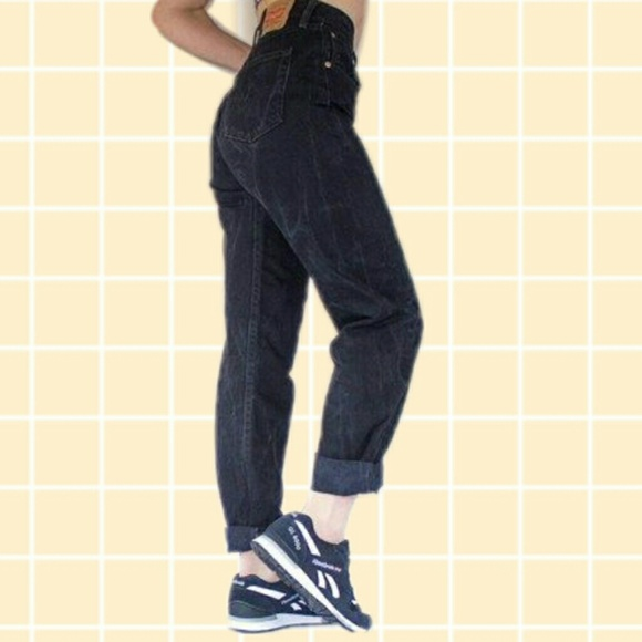 Boyfriend jeans mom jeans black vintage pants